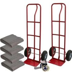 capacity hand truck with 4 moving blankets and tape gun the home depot