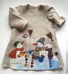 """Одежда для девочек, ручной работы. Ярмарка Мастеров - ручная работа. Купить Льняное детское платье. Ручная роспись."""" Не по правилам..."""" Размер 116. Handmade."""