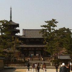 法隆寺-金堂、五重塔