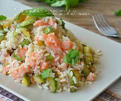 What to cook to Ishii-kun, part 2 - Riso freddo con zucchine salmone e limone