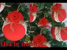 Natale fai da te: palline di polistirolo rivestite di pannolenci - YouTube