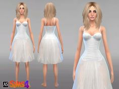The Sims Resource: Angelic White Outfit by Alexandra_Sine • Sims 4 Downloads