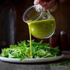 chive oil salad dres