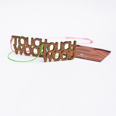 Touch Wood Necklace. Stay Lucky!