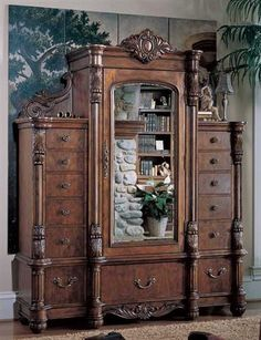 Victorian Armoire - Worthy of one's finest personal accoutrements, this exquisitely crafted cabinet is inspired by the massive freestanding closets that our grandparents knew. I love this Victorian Armoire ! Victorian Furniture, Victorian Decor, Victorian Homes, Victorian Era, Rustic Furniture, Vintage Furniture, Furniture Decor, Bedroom Furniture, Modern Furniture