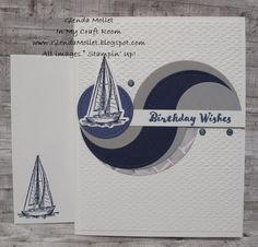 Masculine Birthday Cards, Masculine Cards, Diy Cards, Men's Cards, Nautical Theme, Embossing Folder, Homemade Cards, Paper Design, Birthday Wishes