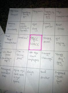 Bar Bingo -well this is happening!!!! Awesome bachelorette party idea