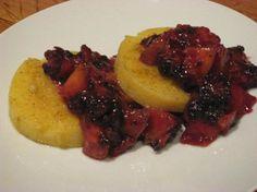 Polenta with Nectarine-Blackberry Salsa  #vegan #heart_healthy