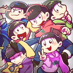Osomatsu-san- Osomatsu, Karamatsu, Choromatsu, Ichimatsu, Jyushimatsu, and Todomatsu #Anime
