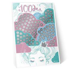 Мотивационный скретч-постер в подарок #100 ДЕЛ настоящей девочки «Oh my look edition» предназначен для сюрприза ко дню рождения, рождественским праздникам, 8 Марта или другому событию, которое может стать началом превращения маленькой разбойницы в юную принцессу. Постер имеет размеры 60х