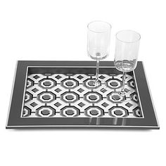 Perspective Tray - Charcoal | Bar-tables-trays | Tabletop-and-bar | Z Gallerie