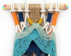 AZA wall hanging by IPI KA IPI Colourful bold macrame wall hanging with tassels
