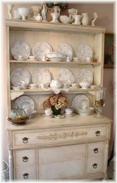 The Feathered Nest China Hutch I Handpainted For Our Home