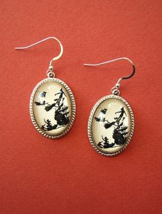 Peter Pan Earrings by tinatarnoff on Etsy, $45.00