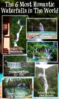 The 6 Most Romantic Waterfalls in the World #WeLovetoTravel www.facebook.com/2traveltheworld
