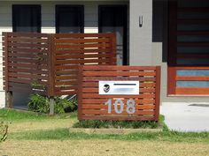 Order letterboxes online from TGT Fencing Australia mailbox / fence Diy Mailbox, Modern Mailbox, Mailbox Ideas, Fence Ideas, Outdoor Spaces, Outdoor Living, Outdoor Decor, Home Mailboxes, Mailbox Landscaping
