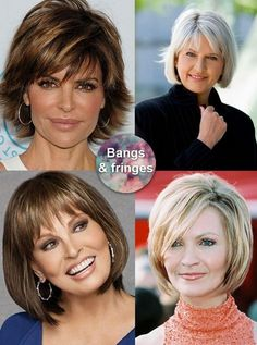 Bangs and fringes with short hair for mature woman over 50