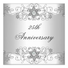 Elegant 25th Anniversary Silver White Diamond Personalized Invitation online after you search a lot for where to buyHow to          Elegant 25th Anniversary Silver White Diamond Personalized Invitation Online Secure Check out Quick and Easy...