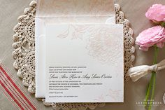 Letterpress Wedding Invitation from Bespoke Press