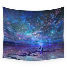 """Society6 Ocean, Stars, Sky, And You Wall Tapestry Small: 51"""" x 60"""""""