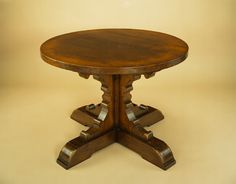 Small Oak Round Table