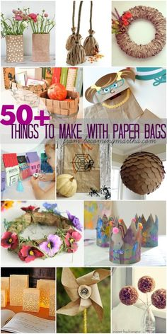 This fabulous resource will inspire you to craft and create with these 50+ Ideas of Things to Make With Paper Bags!