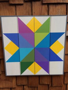 Bright Star Barn Quilt Quilt on Western Red Cedar Quilt Square Patterns, Barn Quilt Patterns, Square Quilt, Barn Quilt Designs, Quilting Designs, Westerns, Painted Barn Quilts, Postage Stamp Quilt, Barn Signs