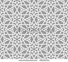Seamless pattern with intersecting stripes, poly lines, polygons. Abstract…