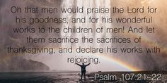 Image result for psalm 107 21-22