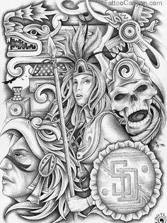 Aztec Art Tattoos Vampire Tattoo  Free Download 23278 picture 14357