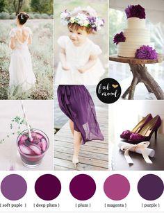 Plum Purple Wedding | http://www.fabmood.com/plum-purple-wedding-colours/