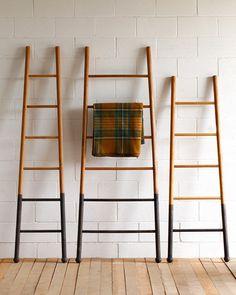 Lostine Bloak wooden ladder dip dyed oak usa
