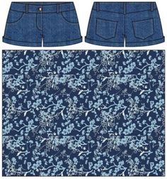 Repurposed Denim: An Upgrade with Voile - Art Gallery Fabric Diy Shorts, Diy Jeans, Jean Crafts, Denim Crafts, Sewing Clothes, Diy Clothes, Diy Kleidung Upcycling, Diy Maxi Skirt, Clothing Hacks
