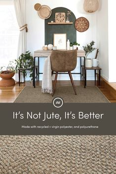 The classic beauty of jute rugs and the ease and washability of Ruggable rugs. Together in one product. Meet Re-Jute. Home Office Space, Home Office Decor, Home Decor, Office Ideas, Living Room Decor, Bedroom Decor, My New Room, Decoration, Home And Living