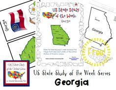 US State Study of the Week Weekly Series FREE Georgia Pack #statestudy #freeprintable #homeschool