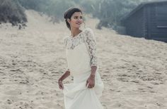 This Long-Sleeved Combo | 36 Ultra-Glamorous Two-Piece Wedding Dresses