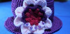 Fiore a uncinetto 3D – Decorazione per un cappello