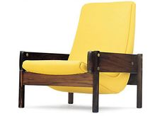 Sergio Rodrigues Arquietura e Design Woodworking Furniture, Woodworking Projects, Outdoor Chairs, Outdoor Furniture, Outdoor Decor, Occasional Chairs, Midcentury Modern, Upholstery, Lounge