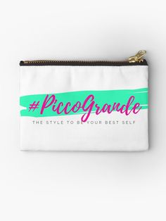 'The style to be your best self - PiccoGrande' Zipper Pouch by PiccoGrande Mouth Mask Fashion, Spanish Fashion, Bff Gifts, Dormitory, Sport Chic, Best Self, Gifts For Family, Zipper Pouch
