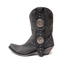 Liberty Black cowboy boots. Loving these big conchos.