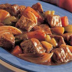 Simple Crock Pot Beef Stew Recipe by A Taste Of the Best Carne Asada, Pressure Cooker Recipes, Pressure Cooking, Electric Pressure Cooker Beef Stew Recipe, Beef Stew Crockpot Easy, Simple Beef Stew, Pork Stew Slow Cooker, Quick Beef Stew, Slower Cooker