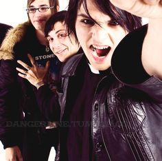 Mikey,Frank,and Gerard.I don't know what's going on,but it looks pretty chaotic.