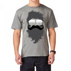 Barnabas Clothing Co. | BeardStache Short Sleeve Tee. Barnabas gives a portion of each sale to those with terminal illnesses in Kenya. #mustache #beard