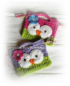 PDF PATTERN Cute Hand Crochet OWL Purse Handbag Boutique Design - No. 15 $6.99