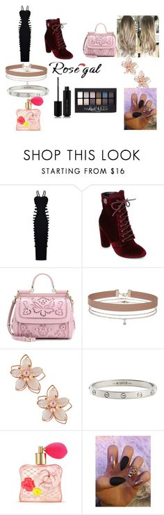 """""""How I style my maxi dress"""" by hotpink179 ❤ liked on Polyvore featuring Catherine Catherine Malandrino, Dolce&Gabbana, Miss Selfridge, NAKAMOL, Cartier, Victoria's Secret, Marc Jacobs, Maybelline and fashionset"""