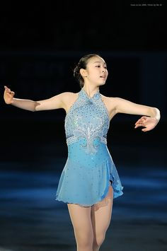 Yuna Kim -Blue Figure Skating / Ice Skating dress inspiration for Sk8 Gr8 Designs.