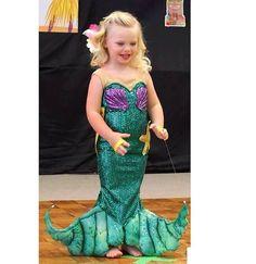 Always wantend this when I was little! girl's custom site shimmering Ariel little mermaid door TheSaltGypsy, $111.00