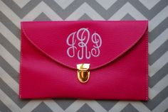 Monogrammed Envelope Purse by MaxJBoutique on Etsy