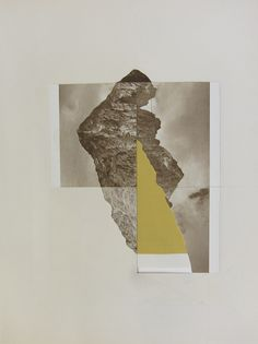 landscapes - Leigh Wells collage and gouache on paper