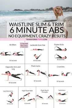 #slimwaistline #trimabs #femalefitness #womensworkouts Slim and trim your waistline with this 6 minute ab workout.  No equipment needed. You won't believe the results!
